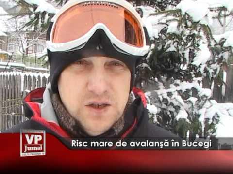 Risc mare de avalanşă în Bucegi