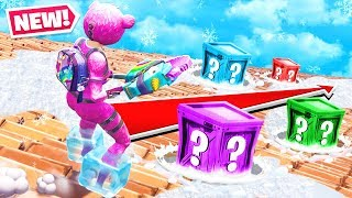 FROZEN LUCKY BLOCKS *NEW* Game Mode in Fortnite Battle Royale