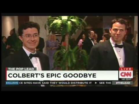 """Colbert's Epic Goodbye - """"The Colbert Report"""" finale with Jake Tapper (December 19, 2014)"""