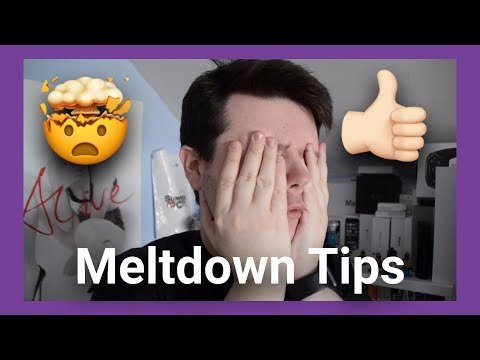 My Autistic Meltdown Calming Tips!