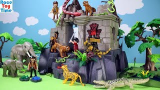 Hi kids, RaceToyTime here! Today, we are going to build, show and play this Playmobil Treasure Temple Building Playset with Jungle Animals, like horned lizard, snakes, scorpions, tigers, leopard, gorilla, crocodiles, spiders,  elephants, orangutans, chimpanzees and more! Please be sure to subscribe to our channel, RaceToyTime, if you haven't already. Like and share our videos. Watch them all! We'll make more! Comment below if you like and as always, thanks for watching!Subscribe to racetoytime here - https://www.youtube.com/channel/UCVTQrl1dtafYX08IBb7EhrwWatch our other videos:  Learn Animal Toys Names │ Zoo Animals Elephant Lion Tiger Rhino for Kids - https://www.youtube.com/watch?v=KnsmONvQyeYLearning Sea Animals Toy Sharks Whales Dolphin - https://www.youtube.com/watch?v=9i88w4UqPnADinosaur Surprise Toys Game in the Claw Machine -  Learn Dinosaurs Names For Children - https://www.youtube.com/watch?v=H8AkVqFrxhoJurassic World Mini Dinosaurs Figures Blind Bag Exclusive Indominus Rex  - https://www.youtube.com/watch?v=_bgyS74lUR8Playmobil City Zoo Toy Wild Animals Building Set Build Review - https://www.youtube.com/watch?v=g5dbYcmUHZ8Playmobil City Life Large Zoo Toy Wild Animals Building Set Build Review - https://www.youtube.com/watch?v=IZXfiFPyW8EDinosaurs 3D Puzzles Animals Eggs Surprise Toys - Spinosaurus Ankylosaurus Pteranodon - https://www.youtube.com/watch?v=VJuukvLmpSgDinosaur Transforming Eggs Toys - Tyrannosaurus Rex Pterodactyl Velociraptor Triceratops - https://youtu.be/HT_CFeMP9GkToy Wild Animals 3D Puzzles Collection - Lion Panda Elephant Zebra Tortoise │ Animals for children - https://youtu.be/yabb98z1WC8Playmobil Toy Wild Zoo Animals Collection For Kids - Tiger Panda Koala Gorilla - https://youtu.be/L06I3WiWjNsPLAYMOBIL Country Farm Animals Pen and Hen House Building Set Build Review  - https://www.youtube.com/watch?v=dGplrNa-NZkPLAYMOBIL Toy Wild Zoo Animals Collection For Kids - Tiger Panda Koala Gorilla - https://youtu.be/L06I3WiWjNsPlaymobil S