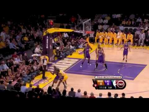 Amar'e Stoudemire blocks Pau Gasol's lay up attempt- Suns vs. Lakers: 2010 West Finals