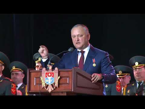 Igor Dodon a participat la festivitatea cu prilejul Zilei veteranilor forțelor armate și organelor de drept
