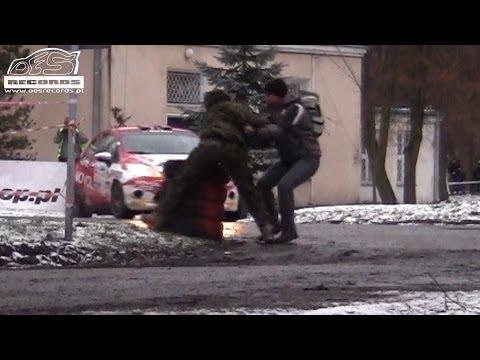 51 Rajd Barbórka 2013 - ACTION Byśkiniewicz vs idiot fan by OesR