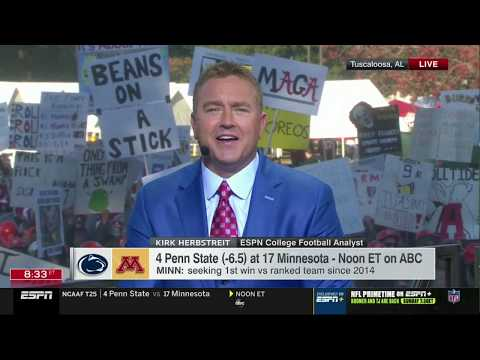 Kirk Herbstreit PREVIEW LSU vs Alabama, Penn State vs Minnesota