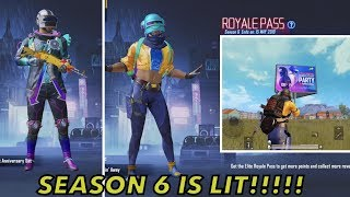 SEASON 6 Rewards are Lit!!! Amazing Skins 😍🥳 and emotes 😂 | Whats new in Season 6 update 0.11.5 ?