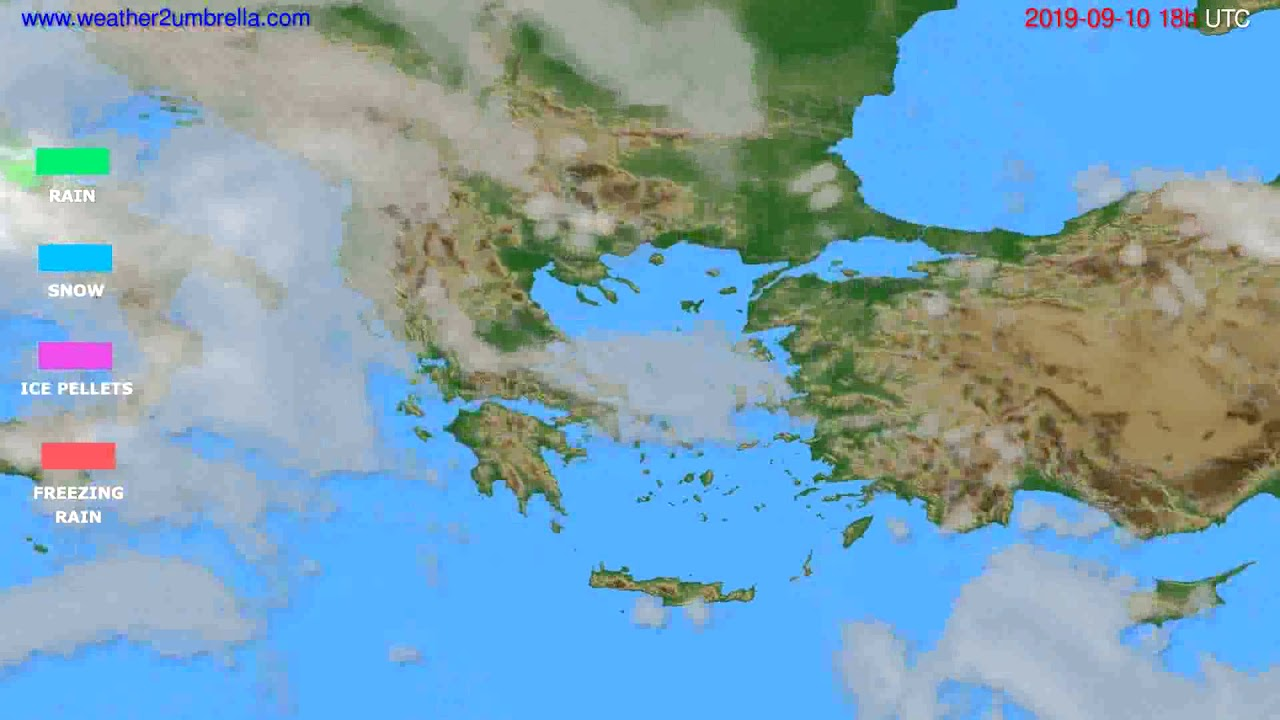 Precipitation forecast Greece // modelrun: 00h UTC 2019-09-08