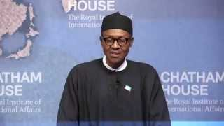 Gen Buhari - Chatham House, UK Speech
