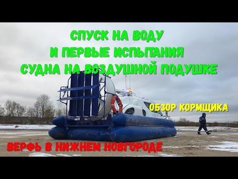 , title : 'Уникальное видео - по Волге на воздушной подушке. Первый спуск на воду и испытания.'