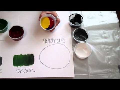 Art 1: Unit 5: How to mix paint Brown