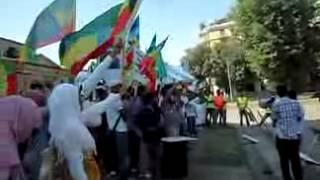 Protest made by Ethiopian Muslims living in italy