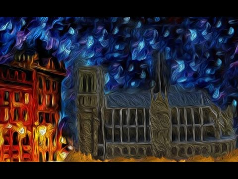 Notre Dame de Paris Cathedral built TIME LAPSE animation Hunchback art painting