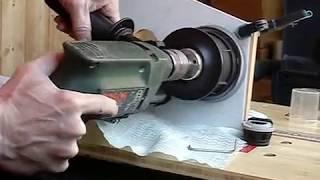 Bosch GDE 16 Cyl  и GSB 550 RE   коронка по плитке