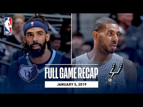 Video: Full Game Recap: Grizzlies vs Spurs   LaMarcus Aldridge Leads The Way For San Antonio