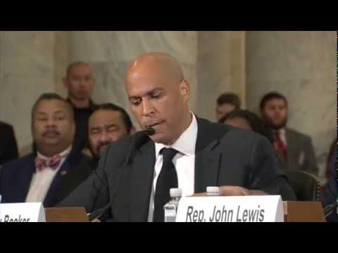 Download FULL: Senator Cory Booker testifies against Senator Jeff Sessions HD Mp4 3GP Video and MP3