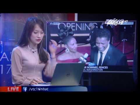 (VTC14)_Nữ sinh nói 7 thứ tiếng dịch chương trình trao giải Oscar