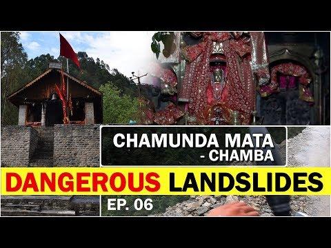EP# 06. CHAMUNDA MATA TEMPLE - CHAMBA   DANGEROUS LANDSLIDES   Ride to North India   Kuldevi