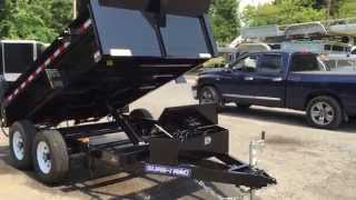 1. Sure Trac Low Profile Hydraulic Dump Trailer 6x10' Low Profile 9990# GVW  ST7210D1R-B-100
