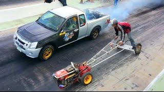 Video Kubota FARM TRACTOR owned MITSUBISHI PICKUP TRUCK in Drag Racing !!! MP3, 3GP, MP4, WEBM, AVI, FLV Agustus 2017