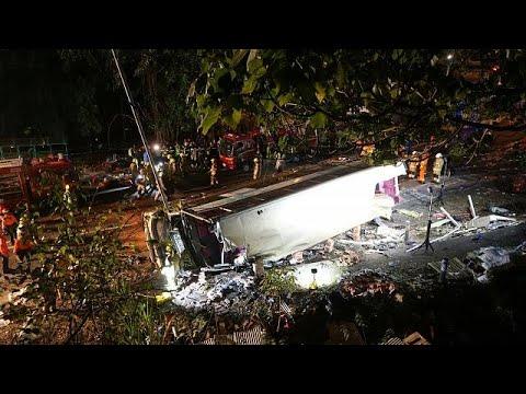 Hongkong: 18 Tote und Dutzende Verletzte bei Schnellb ...