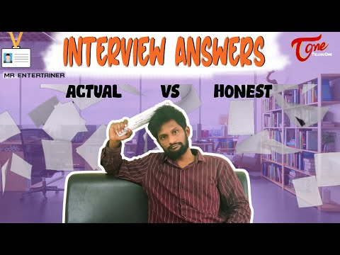 INTERVIEW ANSWERS ACTUAL vs HONEST | Telugu Comedy Short Film 2020 | by M.R Entertainers | TeluguOne