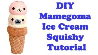 Homemade Mamegoma Ice Cream Squishy Tutorial - YouTube