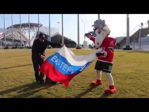 """Лось """"Автик"""" и другие звери КХЛ - веселье в олимпийском парке!"""