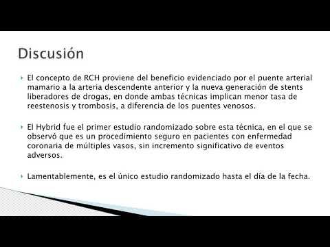 Revascularizacion coronaria híbrida en pacientes seleccionados con enfermedad multivaso. Dr. Mariano Napoli Llobera. Residencia de Cardiología. Hospital C. Argerich. Buenos Aires
