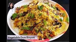 Vegetable Dum Biryani l  Homemade Veg Biryani by Raksha