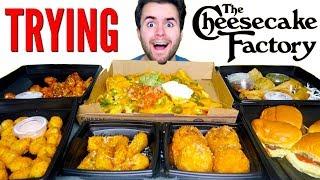 Video TRYING CHEESECAKE FACTORY APPETIZERS! - Fried Mac N' Cheese, Nachos, & MORE Restaurant Taste Test! MP3, 3GP, MP4, WEBM, AVI, FLV Desember 2018