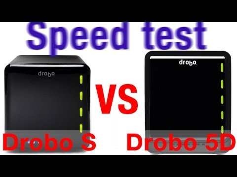 Drobo 5D speed test vs Drobo S