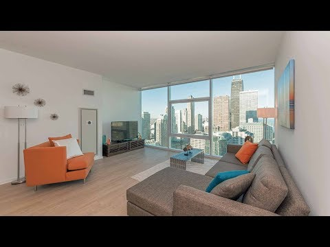 An Apex 2-bedroom, 2-bath at Streeterville's new Optima Signature apartments
