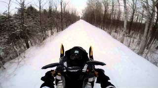 4. 2008 ski doo mxz x 600 sdi power wheelie