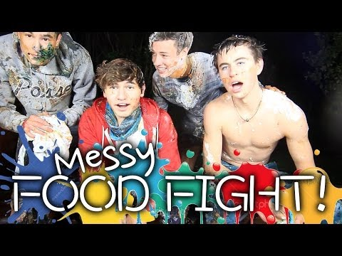 messy food - Jc Caylen, Kian Lawley, Nash Grier & Cameron Dallas.....a bunch of food items......things get a bit.........messy. If you want more videos from us thumbs up ...