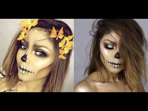 EASY SKULL | HALLOWEEN 2016 | USING ONLY MAKEUP