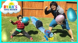 HUGE Easter Eggs Hunt Surprise Toys Challenge with Thomas and Friends