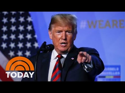 President Donald Trump Holds Impromptu News Conference After NATO Summit | TODAY