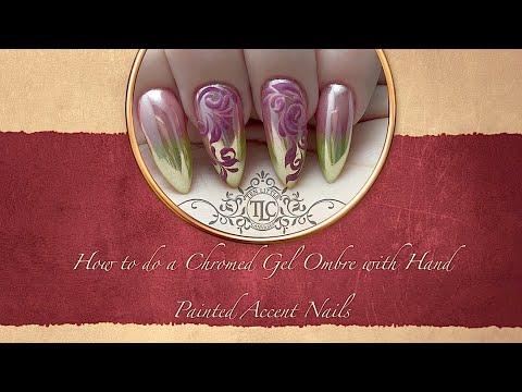 nail art con sfumature cromate
