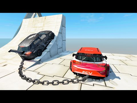 Satisfying Car Crashes #21 - High Speed Jumps (BeamNG Drive)