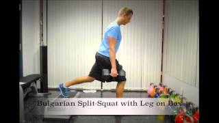 Exercise Index: Bulgarian Split-Squat with Leg on Box