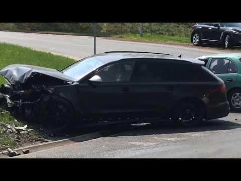 Wideo: Wypadek koło stadionu Zagłębia w Lubinie