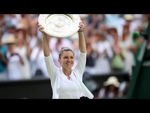 Simona Halep gewinnt erstmals Tennis-Turnier von Wimb ...