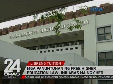 24 Oras: Mga panuntunan ng Free Higher Education Law, inilabas na ng CHED