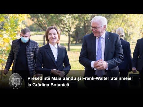 Președinții Maia Sandu și Frank-Walter Steinmeier au continuat tradiția Președinției și au plantat arbori la Grădina Botanică