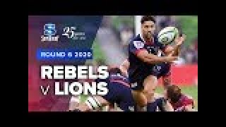 Rebels v Lions Rd.6 2020 Super rugby video highlights | Super Rugby Video Highlights