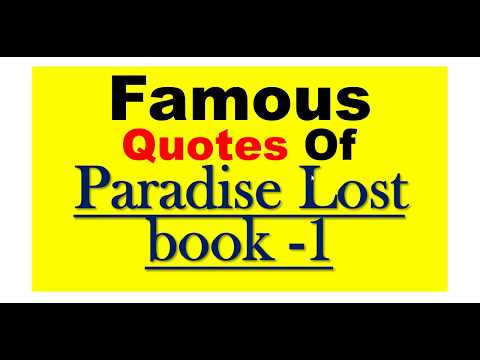 Famous Quotes Of Paradise Lost book -1