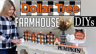 Fall Dollar Tree DIY 2019🎃 Buffalo Check Farmhouse DIY
