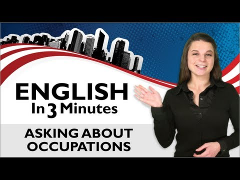 Occupation - http://www.EnglishClass101.com/video Learn common conversation topics with our English in Three Minutes series! In the US, manners are important, and this st...