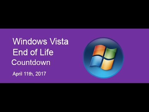 Windows Vista End Of Support Countdown Live