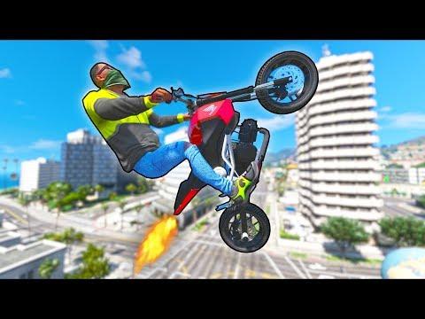 Nitro makes your bike do THIS!! (GTA 5 Mods Gameplay)
